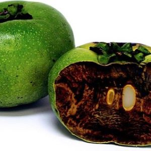 black sapote fruit inside