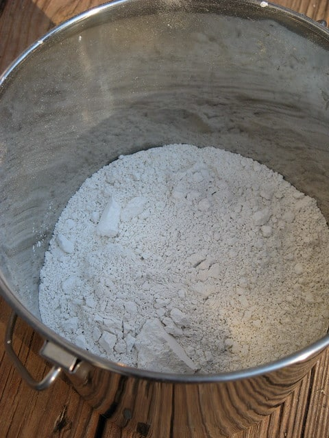 Diatomaceous Earth in a bucket